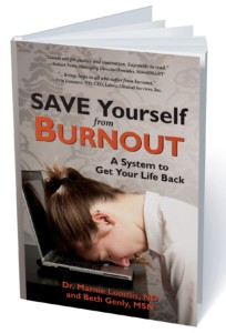 Front cover for the book, Save Yourself from Burnout